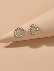 cheap -Women's Stud Earrings Geometrical Sweet Imitation Diamond Earrings Jewelry Gold For Date Festival