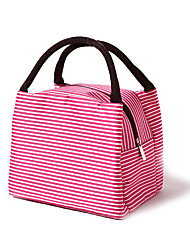 cheap -Unisex Waterproof Oxford Cloth Lunch Bag Zipper Striped Daily Office & Career Handbags Red stripes custom made Brown stripes Green stripes
