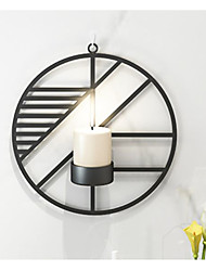 cheap -wall mounted candle sconces holder set of 1 round candle holder for wall decorations, wall sconces for livingroom events aromatherapy yard pathway patio porch, black