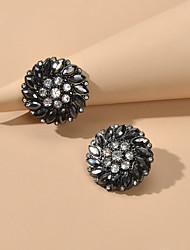 cheap -Women's Stud Earrings Petal Sweet Imitation Diamond Earrings Jewelry Black For Date Festival