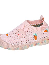 cheap -Girls' Sneakers Comfort Knit Big Kids(7years +) Daily Home Walking Shoes Black Pink Spring Summer