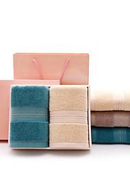 cheap -Superior Quality Wash Cloth, Striped Pure Cotton Living Room / Bathroom 2 pcs