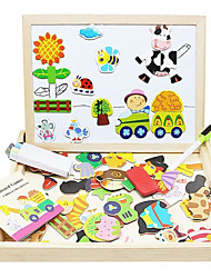 cheap -Magnet Toy Drawing Toy Drawing Tablet Educational Toy Magnetic Easel Magnet Toy Wood Classic Magnetic Fun Kid's Boys' Girls' Toy Gift