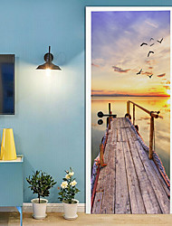 cheap -Holiday Wall Stickers Bedroom / Living Room, Removable Vinyl Home Decoration Wall Decal 2pcs