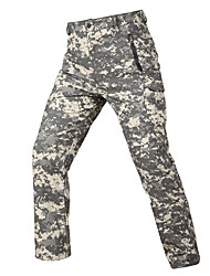 cheap -Men's Hunting Pants Softshell Pants Waterproof Ventilation Wearproof Fall Spring Solid Colored Camo / Camouflage for ACU Color CP Color Digital Desert S M L XL XXL