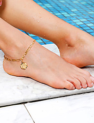 cheap -Leg Chain Stylish Casual / Sporty Women's Body Jewelry For Gift Holiday Figaro Copper Alphabet Shape Gold 1 pc