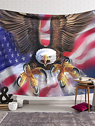 cheap -Wall Tapestry Art Decor Blanket Curtain Hanging Home Bedroom Living Room Decoration Polyester Eagle American Flag
