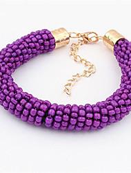 cheap -Women's Bead Bracelet Classic Flower Fashion Alloy Bracelet Jewelry Purple For Date Birthday Beach Festival