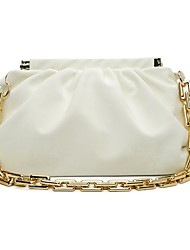 cheap -Women's Bags PU Leather Velvet Wristlet Chain Daily Outdoor Handbags Baguette Bag Chain Bag White Black Yellow Khaki