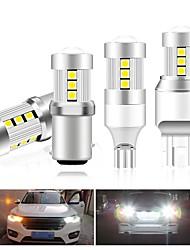 cheap -2pcs Car LED Turn Signal Lights Brake Lights Reversing (backup) Lights Light Bulbs SMD 3030 40 W 15 For universal All years
