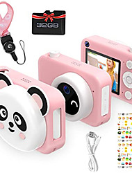 cheap -Kids Camera, Newest 1080P HD Digital Dual Cameras with 32GB SD Card, Toddler Selfie Video Recorder Toy for 4-12 Year Old Girls (Pink)