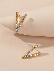 cheap -Women's Stud Earrings Geometrical Luxury Imitation Diamond Earrings Jewelry Gold For Date Festival