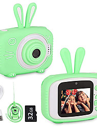 cheap -Digital Camera Toys Dual Selfie Video Recorder Rabbit Gift with 32GB SD Card 1080p HD Kid's Adults' Boys and Girls Toy Gift