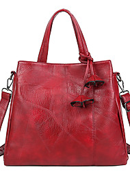 cheap -Women's Bags PU Leather Crossbody Bag Zipper Embellished&Embroidered Plain Daily Going out 2021 Handbags MessengerBag Black Red