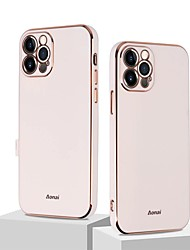cheap -Leather Phone Case For iPhone 13 12 Pro Max 11 Pro Max SE2020 X XR XS Max 7 8 Plus Plating Back Cover with Camera Lens Protector Shockproof TPU Case