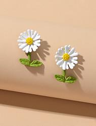 cheap -Women's Stud Earrings Petal Sweet Earrings Jewelry White For Date Vacation