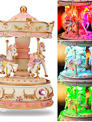 cheap -Music Box Carousel Music Box Classic Unique Resin Women's Unisex Girls' Kids Kid's Adults Adults' Graduation Gifts Toy Gift