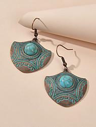 cheap -Women's Drop Earrings Dangle Earrings Geometrical Fashion Gypsy Boho Earrings Jewelry Green / Red For Vacation Beach