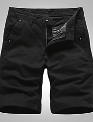 """cheap -Men's Hiking Shorts Solid Color Summer Outdoor 10"""" Multi-Pockets Breathable Wear Resistance Scratch Resistant Cotton Knee Length Shorts Army Green Blue Grey Khaki Black Hunting Fishing Climbing 30 32"""