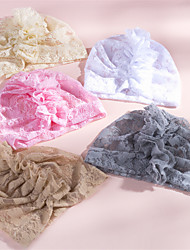 cheap -1pcs Infant Girls' Active / Sweet Solid Colored Lace Lace Hair Accessories White / Yellow / Blushing Pink