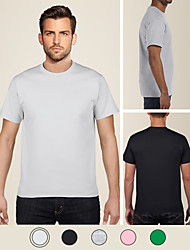 cheap -LITB Basic Men's 100% Cotton T-Shirt Soft Comfortable Classic Tee Solid Colored Round Neck Short Sleeve Daily Tops Simple Male Summer T Shirt