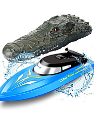 cheap -Remote Control Boats Toy Boats High Speed Waterproof Rechargeable Remote Control / RC for Pools and Lakes Boat Crocodile 2 pcs For Kid's Adults' Gift