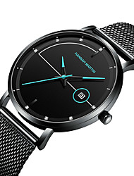 cheap -HANNAH MARTIN Men's Steel Band Watches Analog Quartz Geometrical Stylish Calendar / date / day / One Year / Titanium Alloy / Japanese
