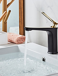 cheap -Bathroom Sink Faucet - Waterfall Electroplated / Painted Finishes Centerset Single Handle One HoleBath Taps