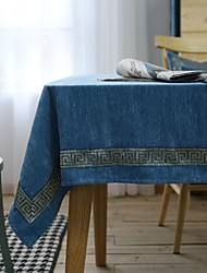cheap -Table Linens polyester fibre Dust-Proof European Style Solid Colored Tabel cover Table decorations for Daily Wear rectangule 90*90 cm Blue fine lace edge flannel 1 pcs