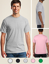 cheap -LITB Basic Men's 100% Cotton T-Shirt Soft Comfortable Classic Tee Solid Colored Round Neck Short Sleeve Daily Tops Simple Summer Thin T Shirt
