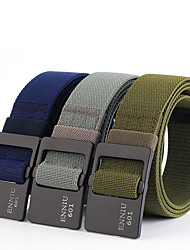 cheap -Men's Military Tactical Belt Breathable Wearable Quick Release for Solid Colored Polyester Fall Spring Summer