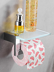 cheap -Toilet Paper Holder New Design / Creative / Multifunction Contemporary / Traditional Brass / Tempered Glass Bathroom / Hotel bath Wall Mounted