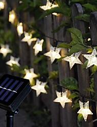 cheap -Outdoor Solar String Light Solar LED String Lights 6.5M 30LEDs Star Snowflake Outdoor Waterpoof with 8 Mode Outdoor Waterproof Fairy Lights Patio Garden Wedding Holiday Decoration Lamp Garden Light