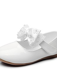 cheap -Girls' Flats Mary Jane Princess Shoes PU Mary Jane Little Kids(4-7ys) Daily Walking Shoes Bowknot Beading White Black Red Spring Summer