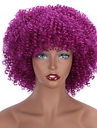 cheap -Synthetic Wig Curly Short Bob Wig Short A10 A1 A2 A3 A4 Synthetic Hair Women's Cosplay Party Fashion Purple