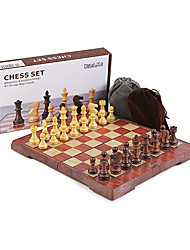 cheap -Folding Magnetic Chess Set with 2 Portable Bags for Storage Lightweight for Easy Carrying (12.4 x 10.6 Inches) Gift for Chess Lovers and Learners