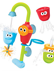 cheap -Stackable Cups and Water Spray Spout Bath Toy Bathtub Pool Toys Water Pool Bathtub Toy STEAM Toy DIY Plastic Sprinkler Bathtime Bathroom for Toddlers, Bathtime Gift for Kids & Infants / Kid's