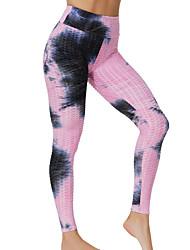 cheap -Women's Plus Size Tie Dye Sporty Yoga Ankle-Length Leggings White