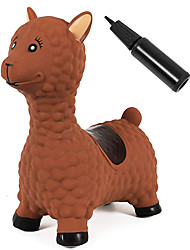cheap -Bouncy Horse Hopper for Toddlers Inflatable Animals Riding Toys Pump Included (Llama)