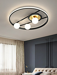 cheap -50 cm LED Ceiling Light Dimmable Nordic Modern Black Gold Circle Design Flush Mount Lights Metal Artistic Style Modern Style Stylish Painted Finishes Artistic LED 220-240V
