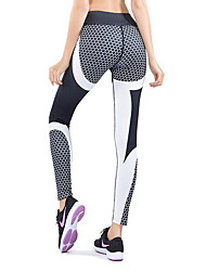 cheap -Activewear Pants Solid Splicing Women's Training Running Natural Polyester