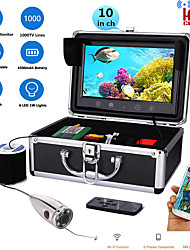 cheap -MOUNTAINONE 10 Inch Color Monitor 30M HD 1000tvl Underwater professional Fishing Video Camera Kit 12 PCS Infrared Lamp Lights - Fun to See Fish Biting