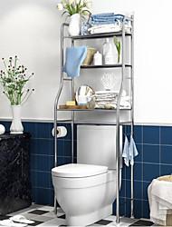 cheap -Punch-free Bathroom Shelf Stainless Steel Floor Wall Hanging Storage Toilet Rack Household