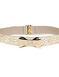 cheap -rebecca women metal chain dress belt skinny waist belt waistband dress accessory (t-beige)