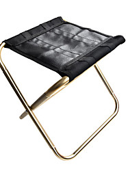 cheap -Camping Stool Portable Ultra Light (UL) Multifunctional Foldable Aluminum Alloy Oxford for 1 person Fishing Beach Camping Traveling Autumn / Fall Winter Purple Orange Gold Silver / Breathable