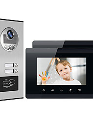 cheap -XINSILU XSL-V70W-B Wired RFID 7 inch Hands-free 800*480 Pixel One to Two video doorphone