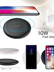 cheap -Cwxuan 10W Wireless Charger Fast Charge Charger Qi Wireless Charger Pad for iPhone 12 Pro Max 11 Samsung S21 S20 S10 Xiaomi Huawei Oneplus 9 Wireless Charge
