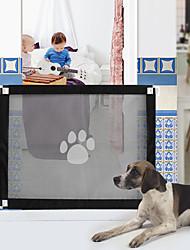 cheap -Dog Cat Pet Door Fence Portable Durable Window Dog Door Plastic Black 1 Piece