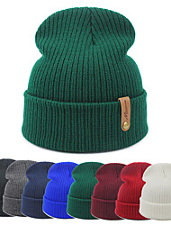 cheap -Winter Knit Beanie for Women Satin Lined Cable Thick Chunky Cap Mens Soft Slouchy Warm Hat