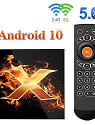cheap -Android 10.0 TV Box Factory OEM X1 4K Touchpad Support H.265 Allwinner H616 2GB 4GB 64GB 32GB 16GB